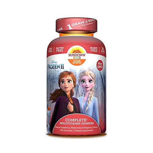 Sundown Kids Disney Frozen 2 Multivitamin Gummies, Vitamins A, C, D, E, Gluten-Free, Dairy-Free, Peanut-Free, 180 Count