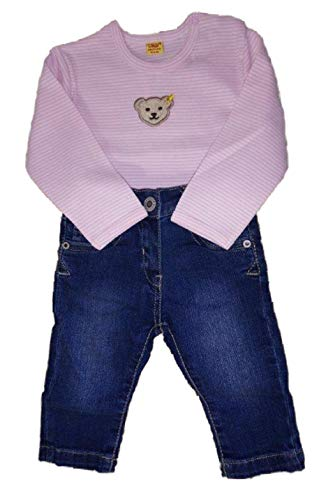 Steiff - Conjunto de pantalón vaquero y camiseta a rayas para niña,...