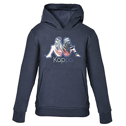 Kappa BTS Cache Sudadera, Azul, 10Y para Niñas