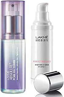 Lakmé Absolute Pore Fix Toner, 60ml & Lakmé Perfect Radiance Skin Lightening Sunscreen Lotion, 30ml