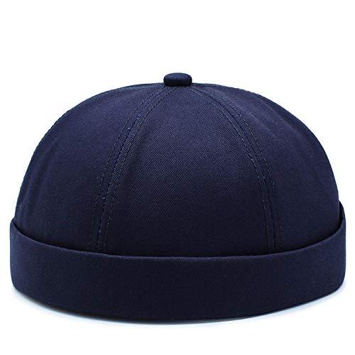 Sun Hat Bonnet sans bord pour homme et femme en coton avec motif tête de mort Rouge Taille S XL Taille bleu marine