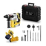 MSW Set De Martillo Perforador Picador Y Guantes De Trabajo BOH-1050-1-SET (Energía De Impacto: 2,8 J, 5200 Golpes/min 1050 Watt)