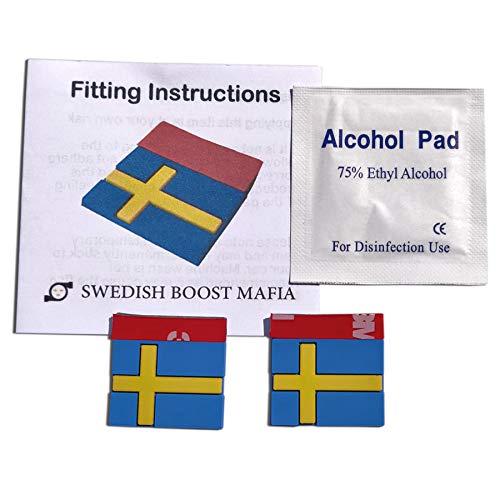 Swedish Boost Mafia Gummianhänger für Saab und Volvo mit schwedischer Flagge, 2 Stück