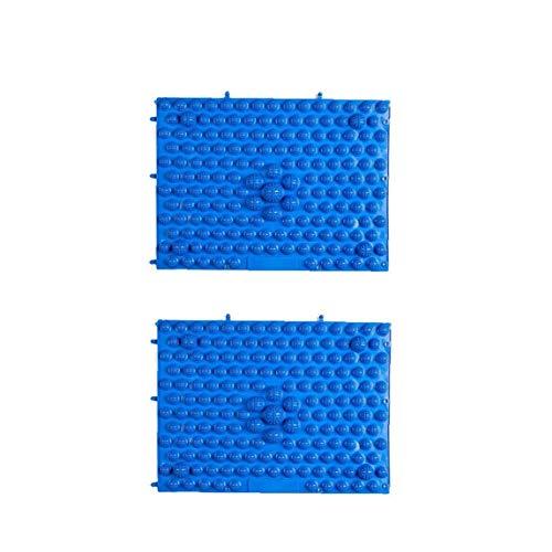 shentaotao 2st 29x39cm Anti-rutsch-fußmassage Mat Akupressur Fußreflexzonenmassage Gehen Toe Platte Yoga Pad (gelb-blau) Gesundheit Und Schönheit