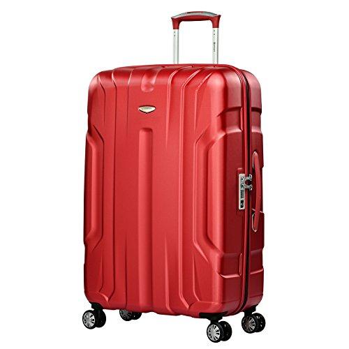 Eminent Koffer X-TEC L 76 cm 102 L super leicht Anti-Kratz-Hartschale 4 Doppelrollen 360° TSA-Schloss Hartschalenkoffer Rot