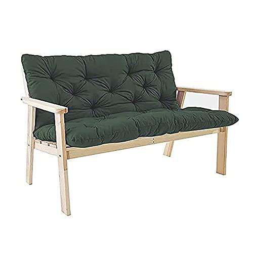 CGDX Cuscino per Sdraio Esterno, Cuscino per Panca da Giardino Extra Spesso con Schienale, Cuscino per Sedile Comfort A 2-3 Posti Materasso per Panca per Mobili da Esterno per Amache