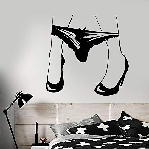 JIAYOUHUO Hot Girl Beine Tanga bekommen Body Art Unterwäsche Aufkleber entfernbare Kunst Wandbild für Wohnzimmer Home Decoration