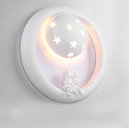 LightSeiEU Lit, chambre à coucher, couloir, salon, salle de décoration pour enfants bande dessinée créative Applique LED