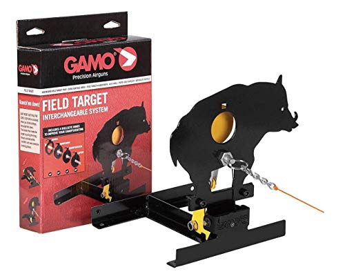 Farm Cottage Brands Gamo Wild Boar Field Target with pull up cord & 4 bullseye reducers - Interchangeable system for air rifles/pistol gun