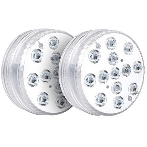 Luci per Piscina/Laghetto - MOSRACY 13 RGB Luci a LED Subacquee Impermeabili a LED con Temporizzazione RF per Vasca Idromassaggio,Giardino,Piscina, Acquario, Decorazioni per la casa (2 confezioni)