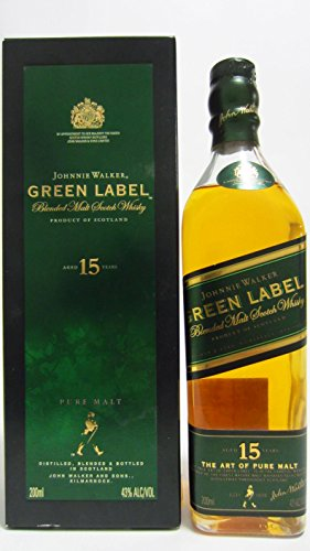 Johnnie Walker Green Label 15 Jahre - 0,2 Liter