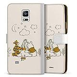 DeinDesign Étui Compatible avec Samsung Galaxy Note 4 Étui Folio Étui magnétique Winnie l'ourson...