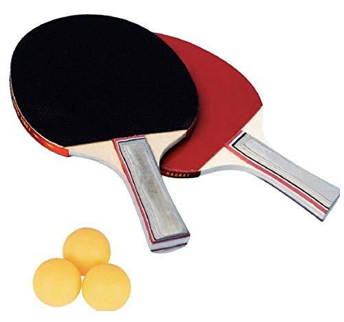 V&AMYA Set da ping pong - 2 Racchette in Gomma Premium a Doppia Faccia + 3 Palline da Ping Pong per Allenatori, Amatori, Principianti.