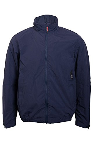 TOIO Mens Team Jacket Windproof and Water Resistant Dark Navy Rubber Grip at Inside Bottom 100% Nylon Small