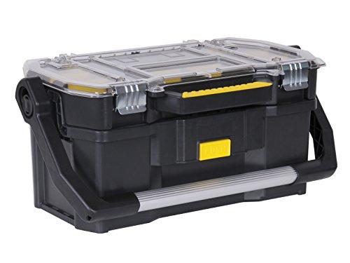 Preisvergleich Produktbild Stanley Werkzeugkoffer (56 x 32 x 25 cm,  mit Organizeraufsatz,  getrennt verwendbar,  Koffer mit rostfreien Metallschließen,  stabiler Koffer für Werkzeuge und Kleinteile) STST1-70317