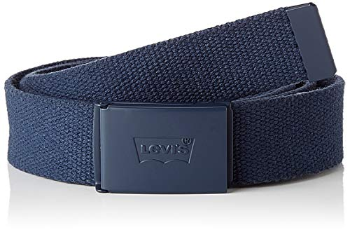 LEVIS FOOTWEAR AND ACCESSORIES Tonal Web Belt cinturón, navy, ADJ110 Unisex Adulto