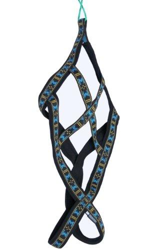 Weight Pulling Sledding Dog Harness X-Back Style Black Large, 21' Neck Circumference