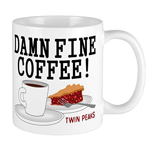 Twin Peaks Damn Fine Coffee Coffee Mug Tea Milk Cup D Shape Handle Mugs, 350ml