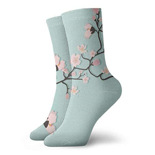 Socks Calcetines Red Blossom Spring Calcetines cortos unisex para adultos que absorben la humedad atléticos para correr, fitness, viajes, trabajo