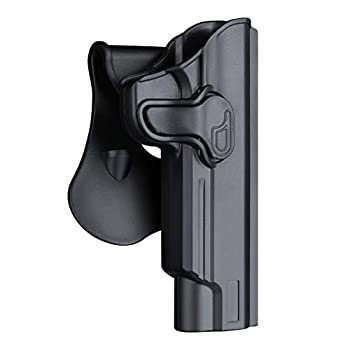 1911 Full Size Holster 5 inch OWB Holsters for Colt 1911 / Elite Force 1911 / Kimber 1911 / Rock Island Armory 1911 / Springfield 1911 - Index Finger Released   Adjustable Cant   Autolock -Right Hand