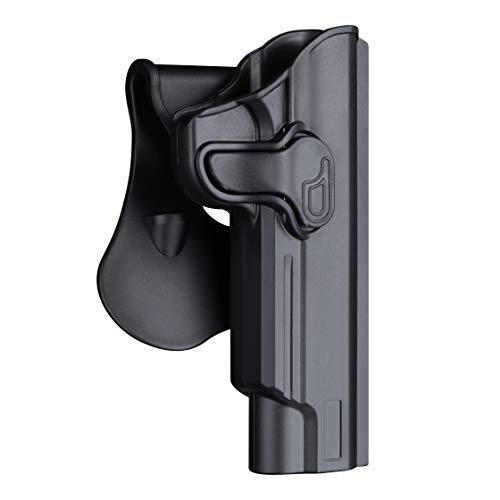 1911 Full Size Holster 5 inch, OWB Holsters for Colt 1911 / Elite Force 1911 / Kimber 1911 / Rock Island Armory 1911 / Springfield 1911 - Index Finger Released | Adjustable Cant | Autolock -Right Hand