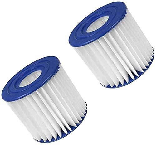 Yuner 2 x Filterkartuschen Filter Kartuschenfilter Papier universell passend für Swimming Pool Pumpen Filteranlagenzubehör Filterkartusche - Typ D
