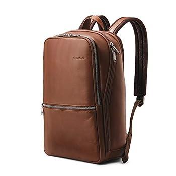 Samsonite Classic Leather Slim Backpack Cognac One Size