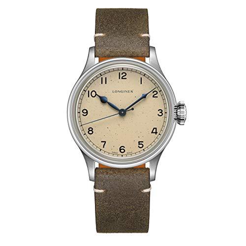 Longines orologio Heritage Military 38,5 mm acciaio automatico L2.819.4.93.2