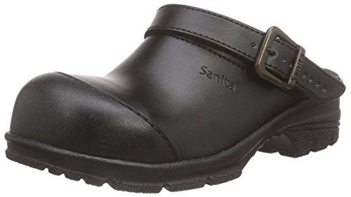 Sanita Workwear Unisex-Erwachsene San-Duty Open-SB Clogs, Schwarz (Black 2), 42 EU