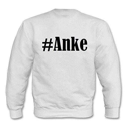 Reifen-Markt Sweatshirt Damen #Anke Größe L Farbe Weiss Druck Schwarz