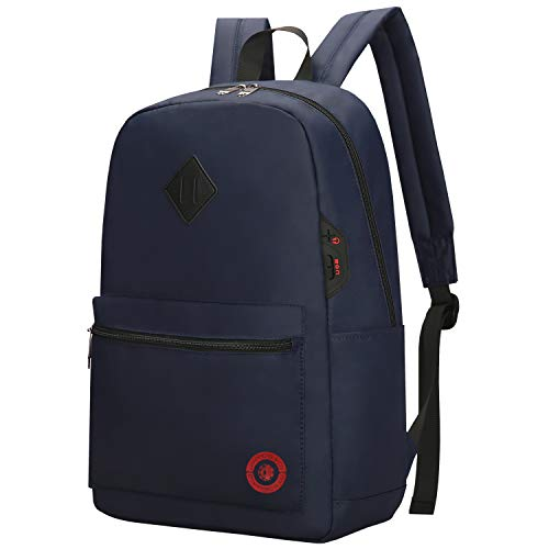 Drappers Carepa Backpack for Boys and Girls Casual Daypack lightweight school bag 30 litres capacity water-resistant foldable Rucksack for travel, sports, Hiking men women two side-pockets, Blue