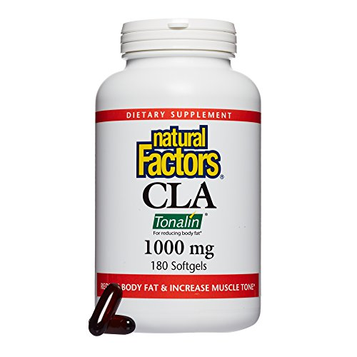 Natural Factors, CLA Tonalin 1000 mg, Supports Healthy Muscle Mass and Weight Management, 180 softgels (90 servings)