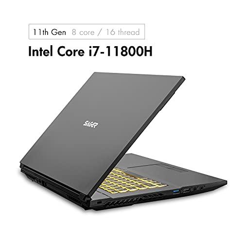 Sager NP7879KQ 17.3-Inch Thin Bezel FHD 144Hz 72% NTSC Gaming Laptop, Intel i7-11800H, RTX 3050 Ti 4GB, 32GB RAM, 1TB NVMe SSD, Windows 10