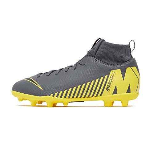 Nike Superfly 6 Club MG, Zapatillas de Fútbol, Gris (Dark Grey/Black/OPTI Yellow 070), 36.5 EU