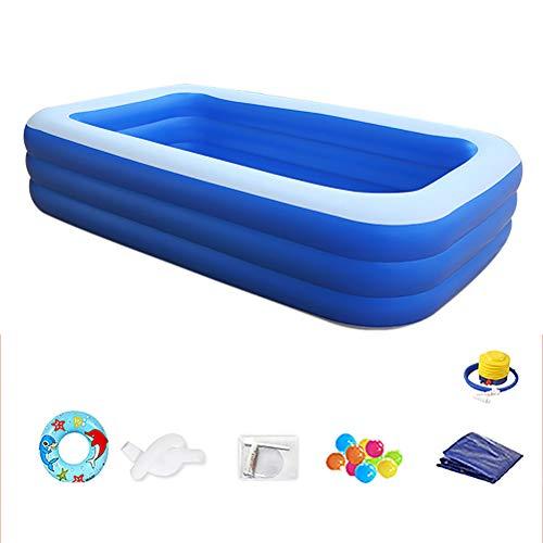 Verdikte PVC Groot Zwembad Foldable Buiten Opblaasbare Zwembaden Voor Tieners Outdoor Games for Kids,Bluea,4 floors 210 * 150 * 75