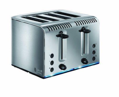 Russell Hobbs 20750 Buckingham 4-Slice Toaster, Polished, 2100 W, Stainless Steel