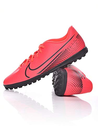 Nike Vapor 13 Club Tf, Scarpe per Calcetto a Cinque Uomo, Laser Crimson Black Laser Crim, 46 EU