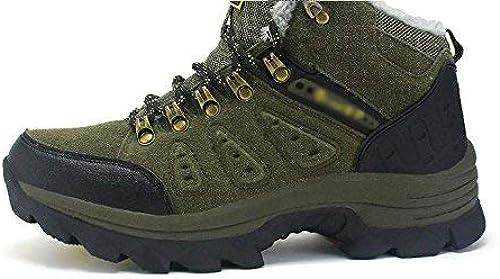 Hhor Les Chaussures Chaussures de randonnée en Plein air pour Hommes sont antidérapantes et Chaudes au Cachemire (Couleuré   45, Taille   Marron)  prendre jusqu'à 70% de réduction