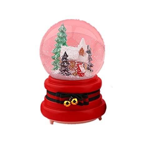 PLBB3K Caja de música de la Bola de Cristal y Regalos de la Manualidades de la Resina de la Resina de la Nieve y del Copo de Nieve para Adornos para niñas-Tree_m