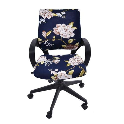 Baiancy Office Chair Cover Stretchable Desk Chair Covers with Floral Pattern Replaceable Rotating Computer Chair Protective Slipcover