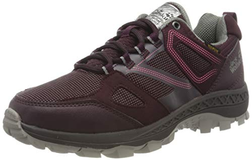 Jack Wolfskin Damen Downhill Texapore Low W Outdoorschuhe, Burgundy/pink, 42 EU