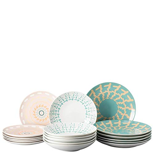 Thomas Rosenthal Colour Game Pastel - Vajilla de porcelana (18 piezas)