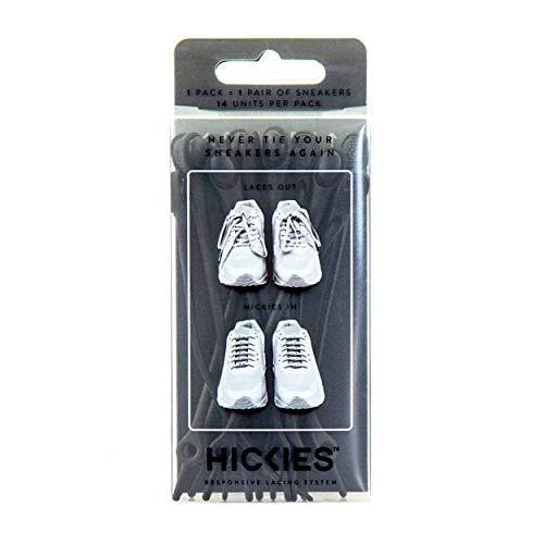 HICKIES Elastic No-Tie Shoelaces, Black