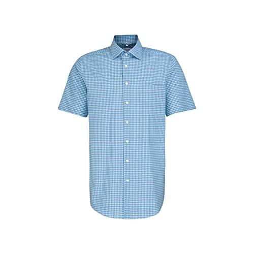 Seidensticker Herren New Kent 1/2 Klassisches Hemd, türkis, 38