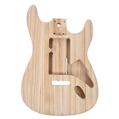 Kamenda Accesorios de Guitarra EléCtrica Tipo Madera Material de Barril de Guitarra EléCtrica ST Cuerpo de Barril de Guitarra de Arce