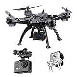 XIAOKEKE Drone con Pescar, 1080P HD, Avión WiFi FPV por Control Remoto, Cuadricóptero Plegable, Manipulador Controlable, Modo Sin Cabeza, Apto para Pesca Al Aire Libre, El Paquete Contiene 8 Drones