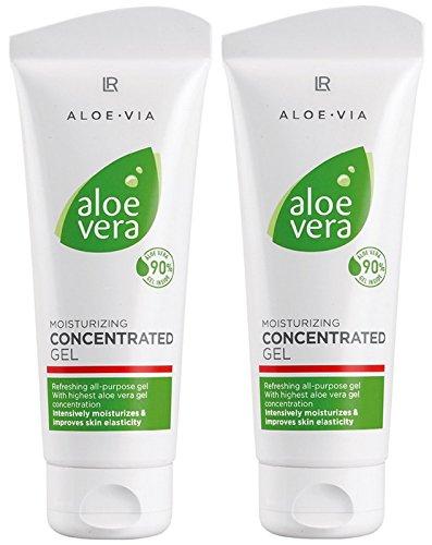 LR ALOE VIA Aloe Vera Gelkonzentrat Konzentrat Feuchtigkeitsgel (2x 100 ml)