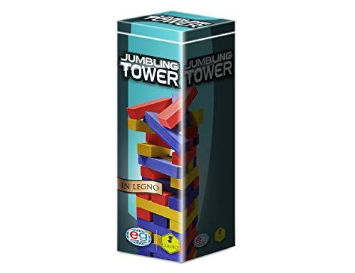 Editrice Giochi 6036102 - Giochi Classici Jumbling Tower A Colori in Legno