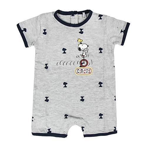 Artesania Cerda Baby-Jungen Pelele Single Jersey Snoopy Strampler, Grau (Gris C13), One Size (Herstellergröße: 1M)