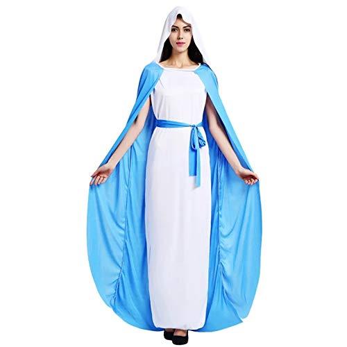 thematys® Disfraz de Virgen María para Mujer Cosplay, Carnaval y Halloween - Talla única 160-180cm